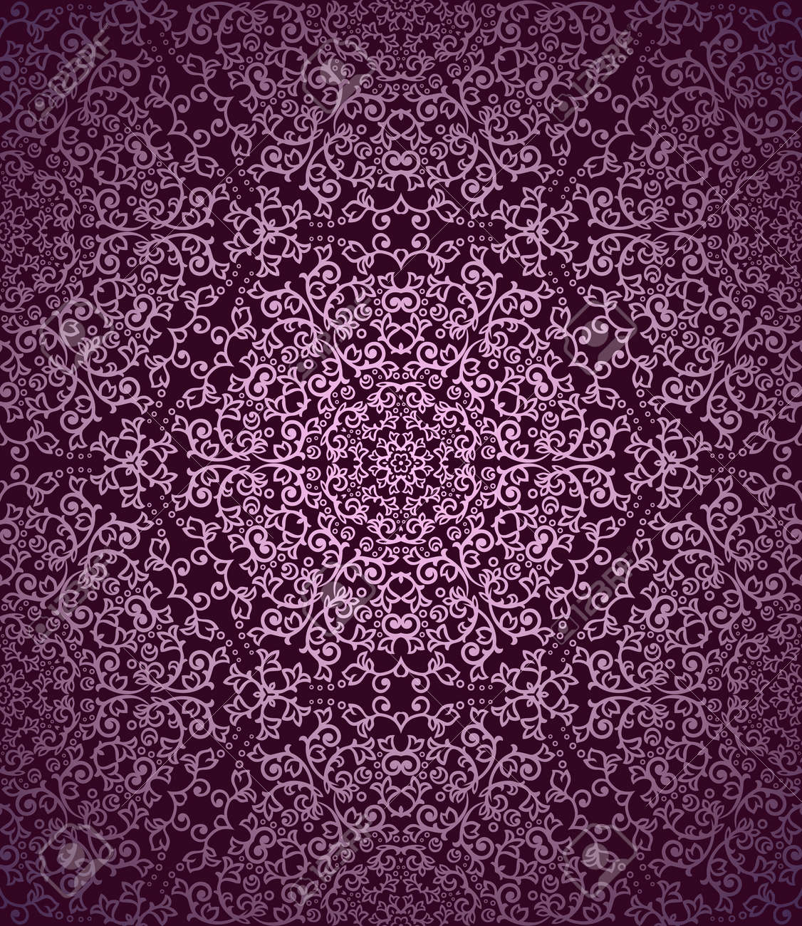 Detailed magenta vintage seamless pattern Stock Vector - 21530114