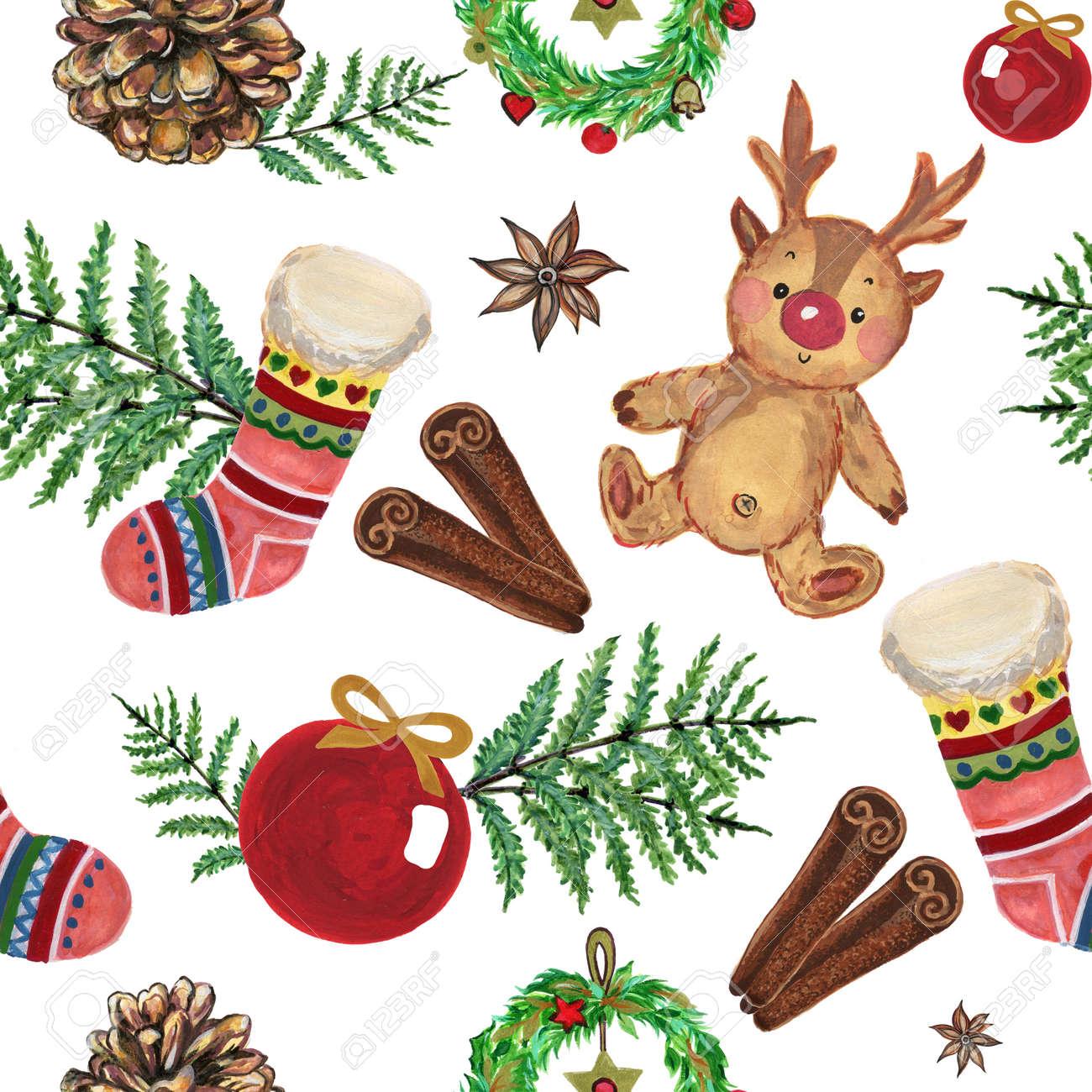 Vintage Christmas Illustrations.Stock Illustration