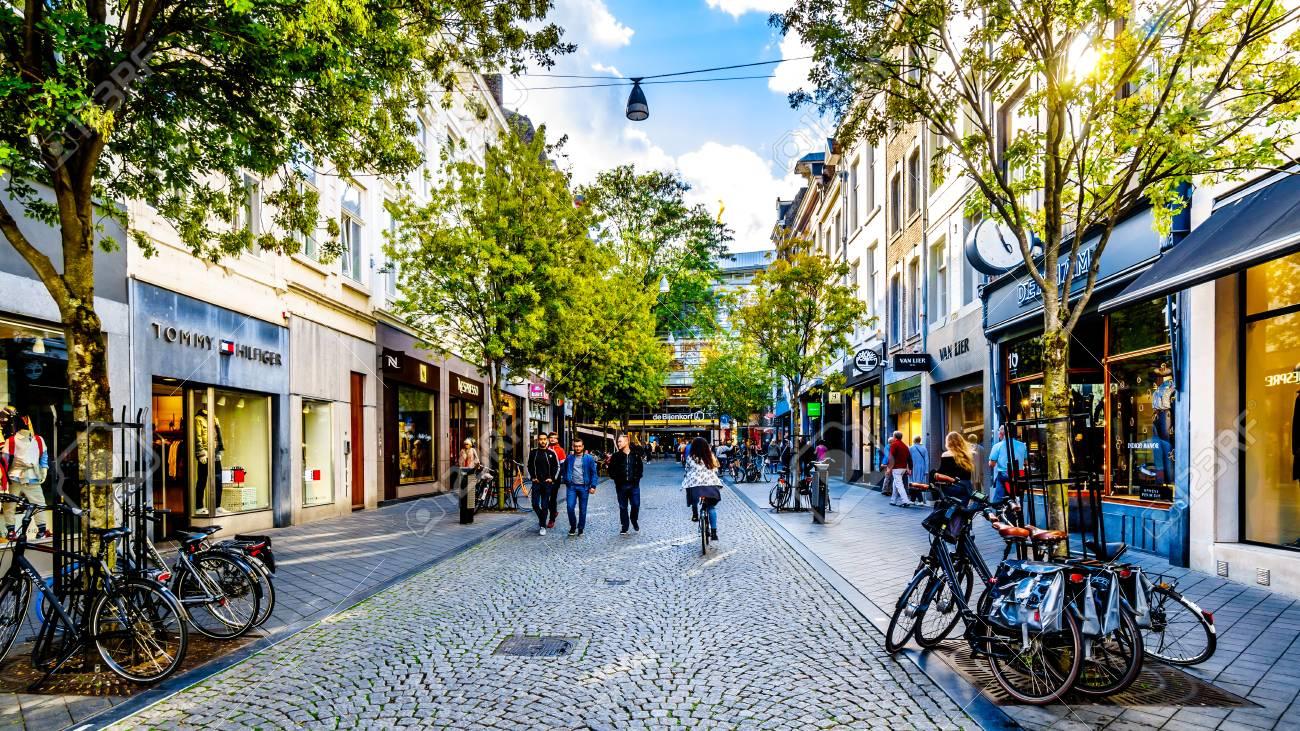 Maastricht, Limburg / the Netherlands - Sept  21, 2018: Shopping