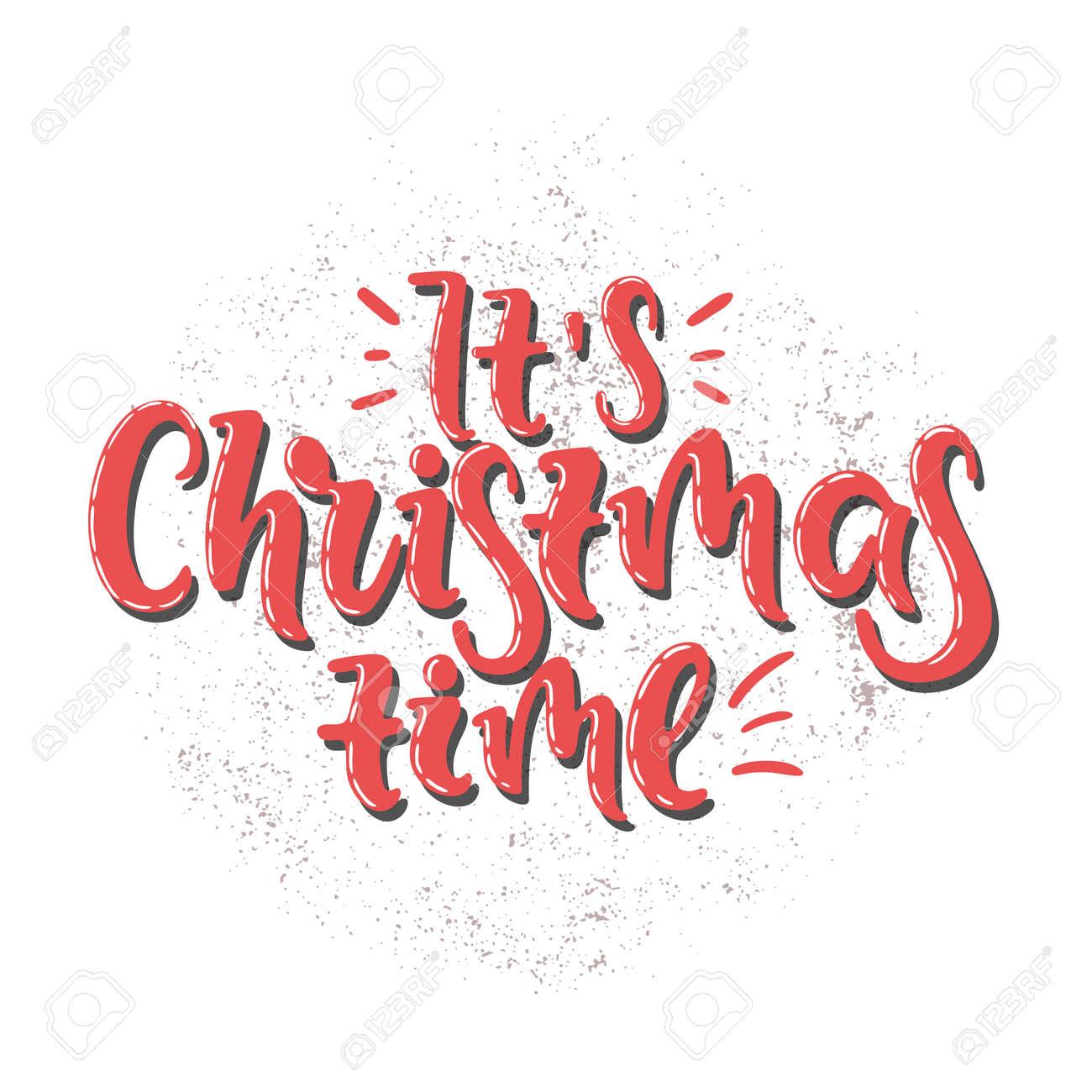 Vector Hand Drawn Illustration. Merry Christmas, Xmas, Holiday ...