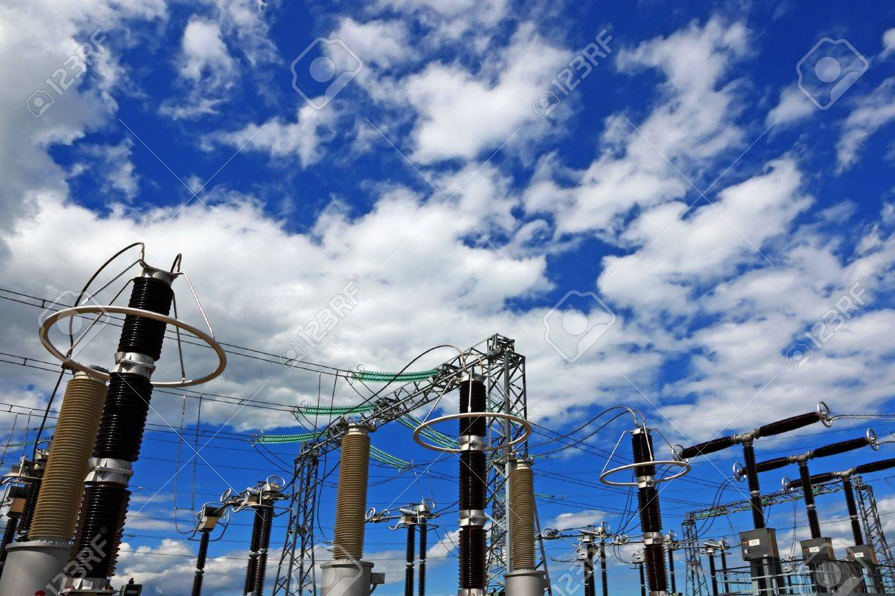 Electric substation in a bright sunny day Stock Photo - 13900880