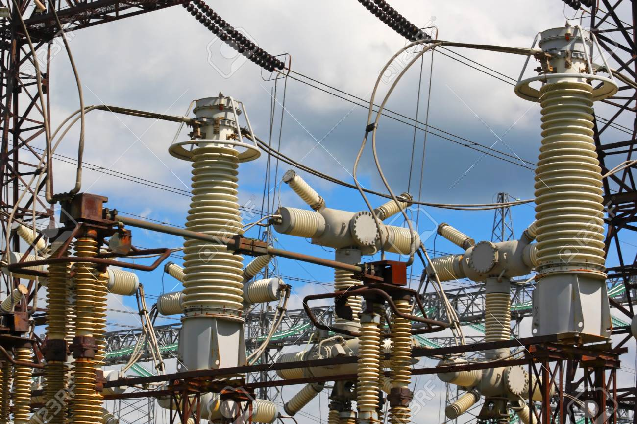 Equipment of high-voltage electric substation Stock Photo - 15757056