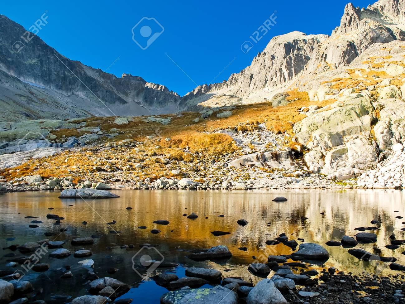 View of lake and mountains in the autumn season Stock Photo - 12348755