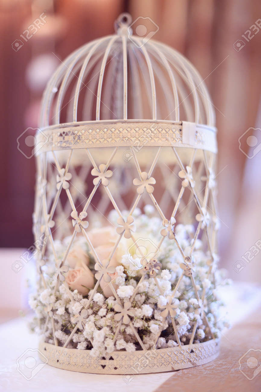 Birdcage Wedding Decoration Stock Photo Picture And Royalty Free