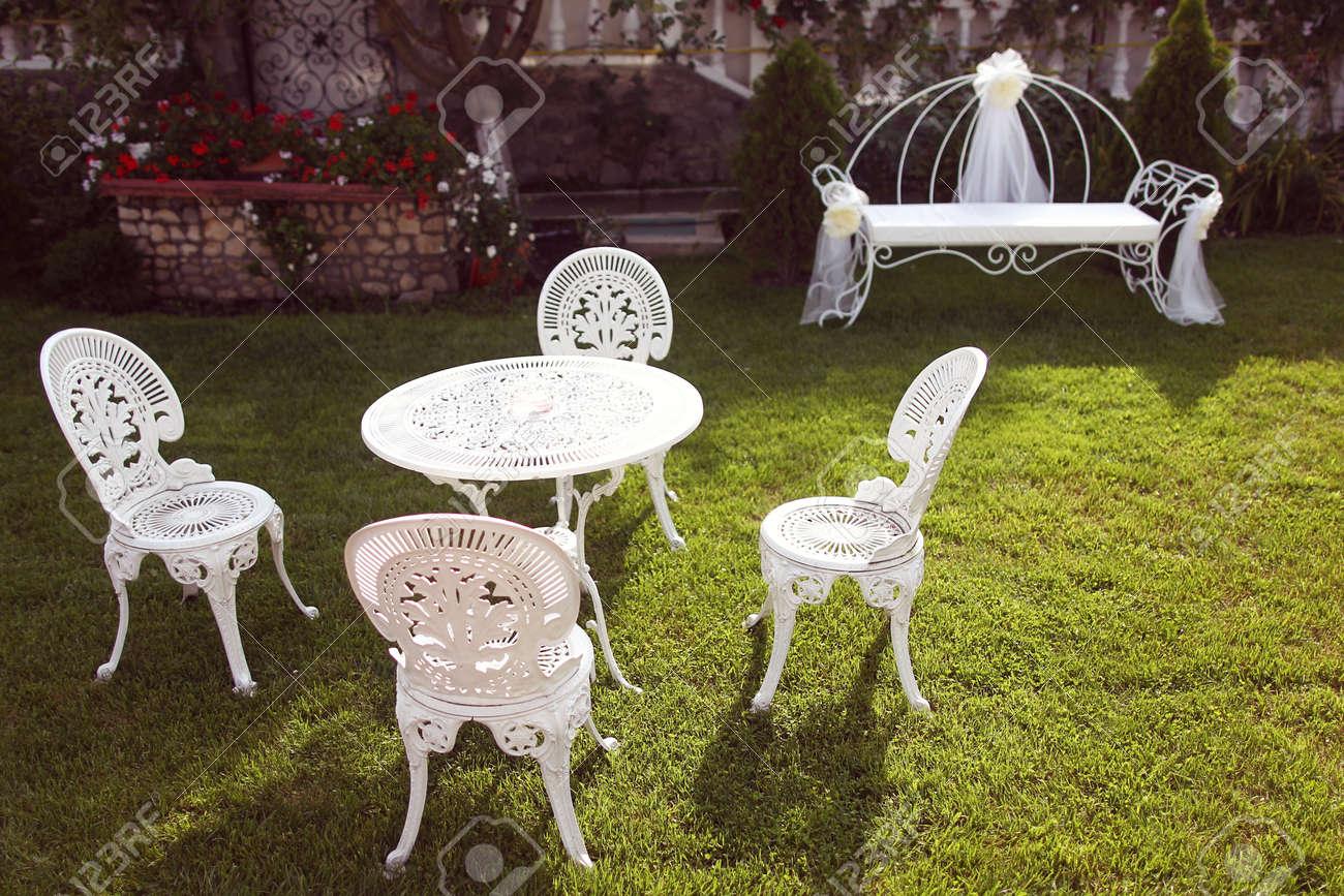 sillas jardin hierro fundido