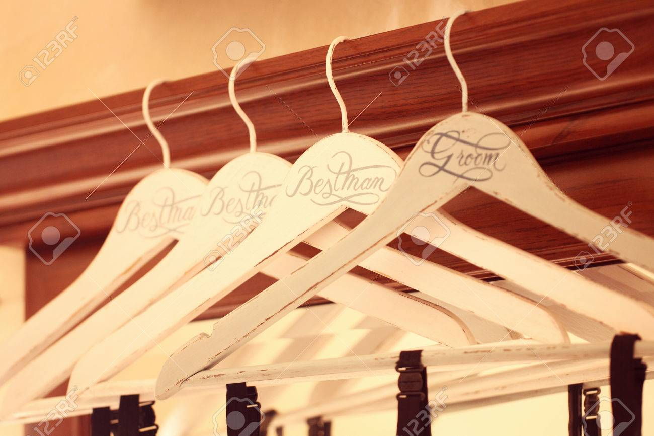 Personalized Hangers For Groom And Groomsmen
