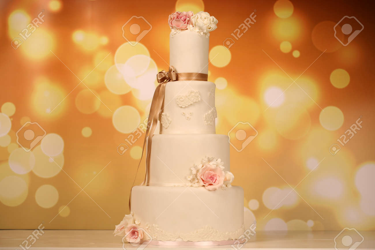 Marzipan Wedding Cake Stock Photo, Picture And Royalty Free Image ...