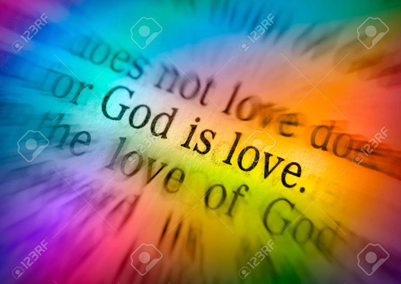 GOD IS LOVEBible text from 1 John 4:8, the Bible  Visual effects