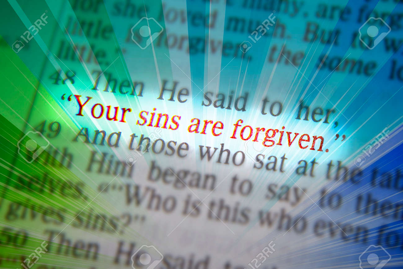 Your sins are forgivenBible text from Luke 7:48, the Bible