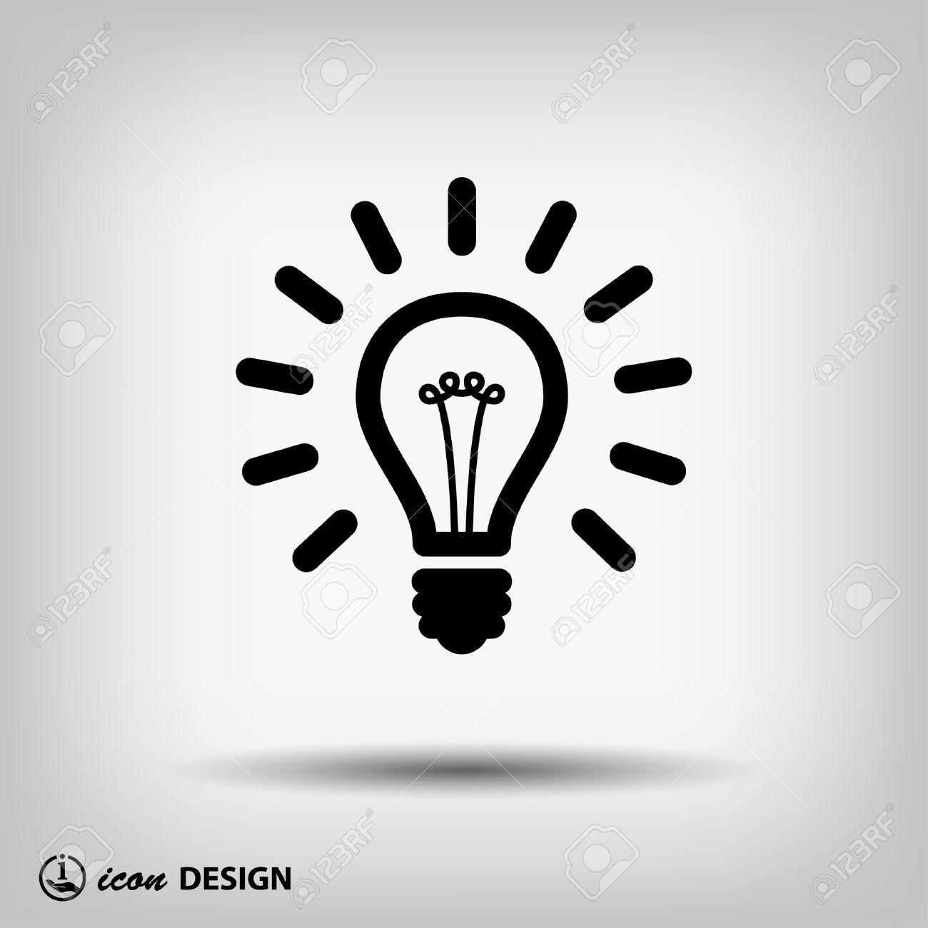 Pictograph of light bulb - 41441319