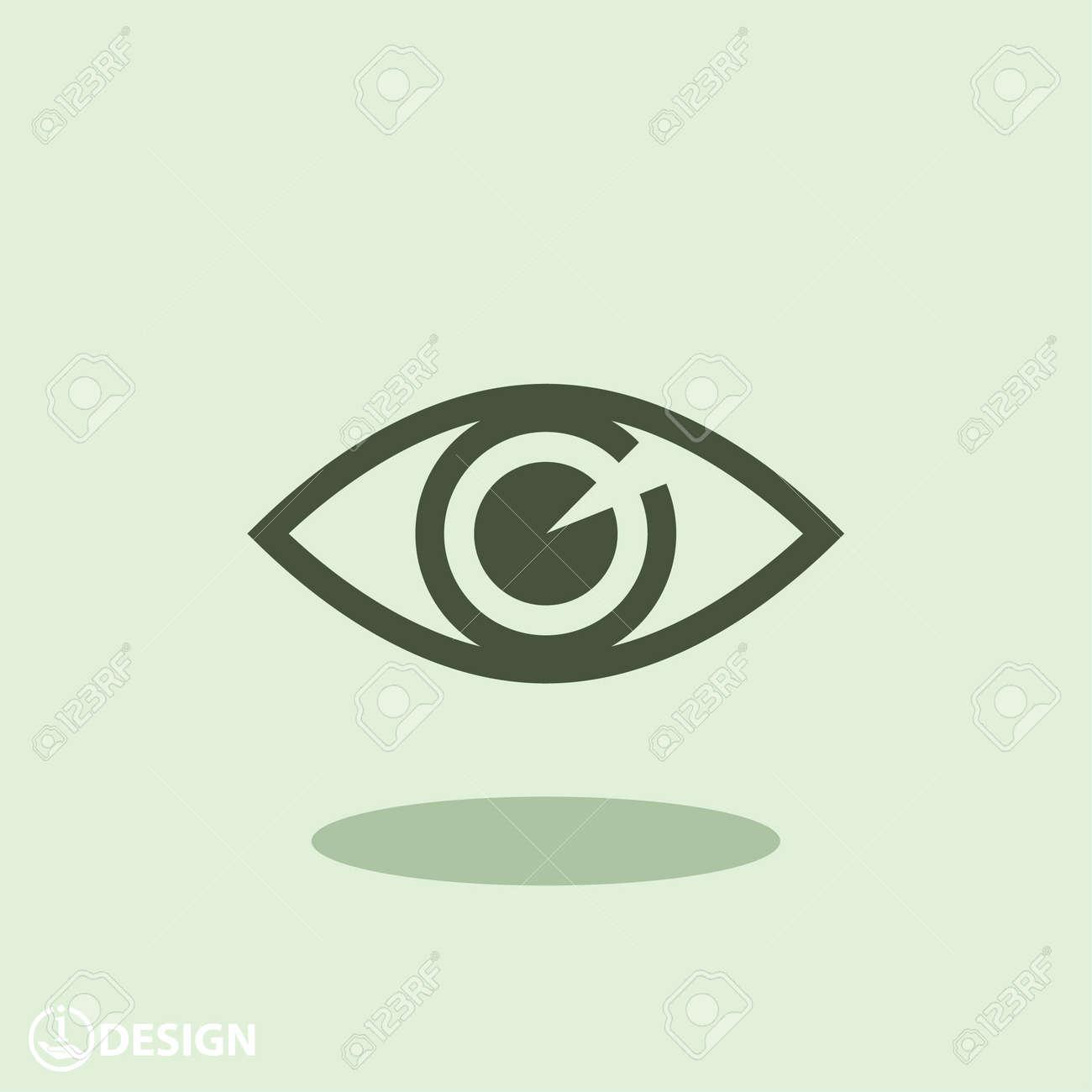 Pictograph of eye - 46996107