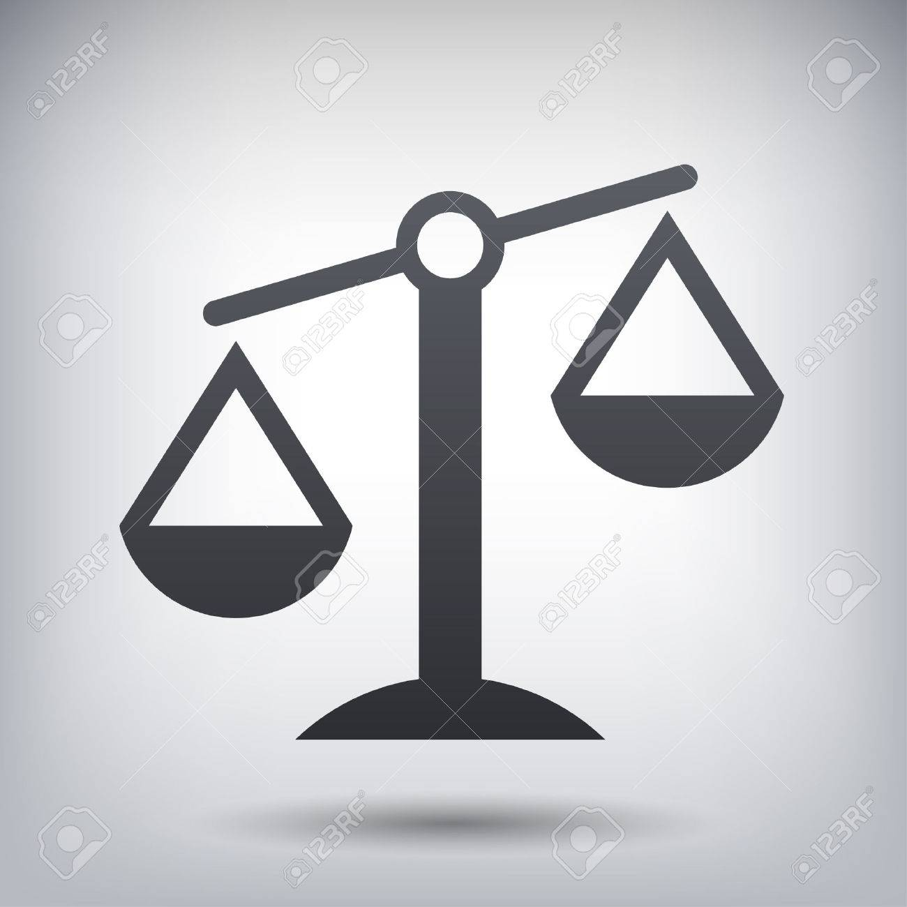 Pictograph of justice scales - 51240848