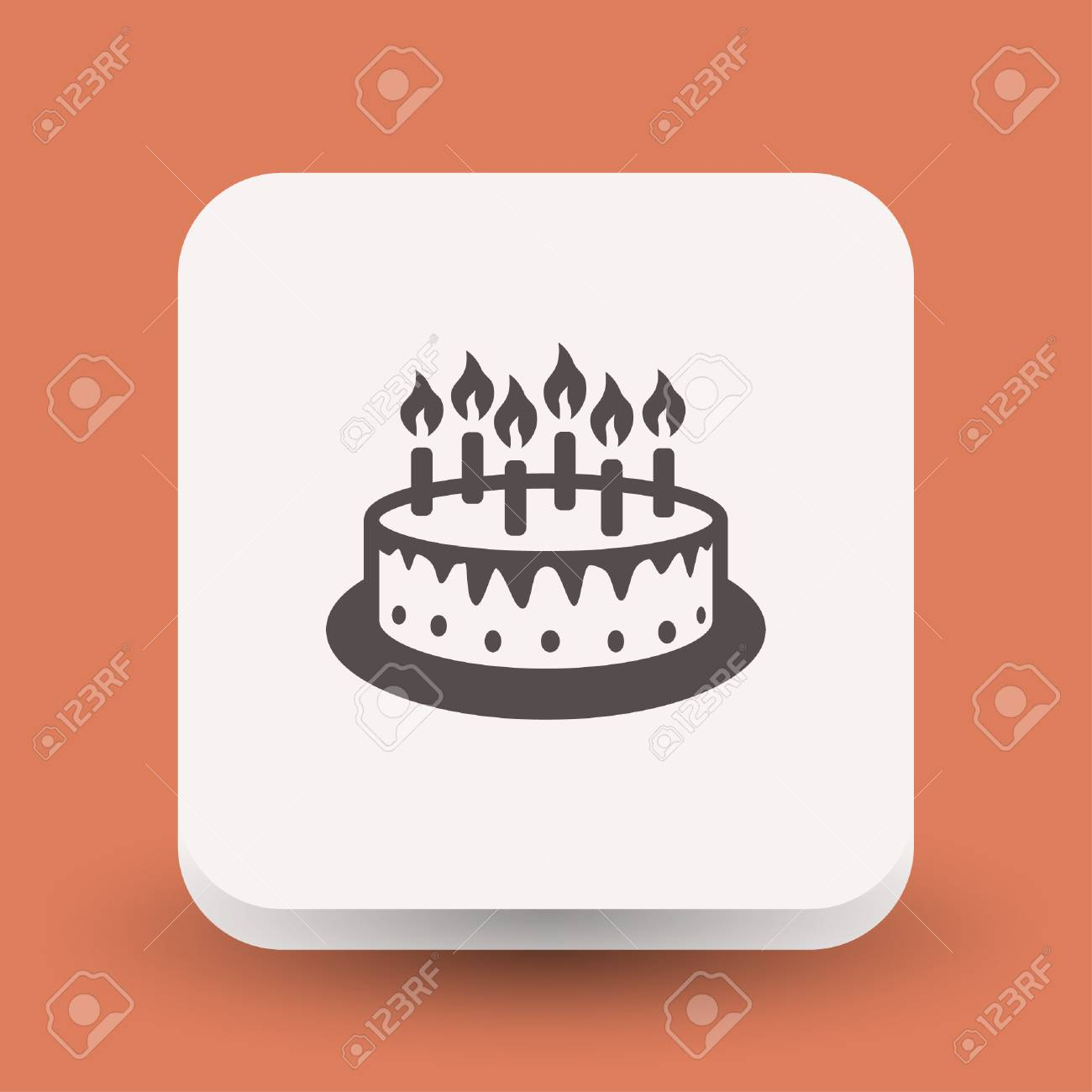 Pictograph Of Cake Vector Concept Illustration For Design Eps