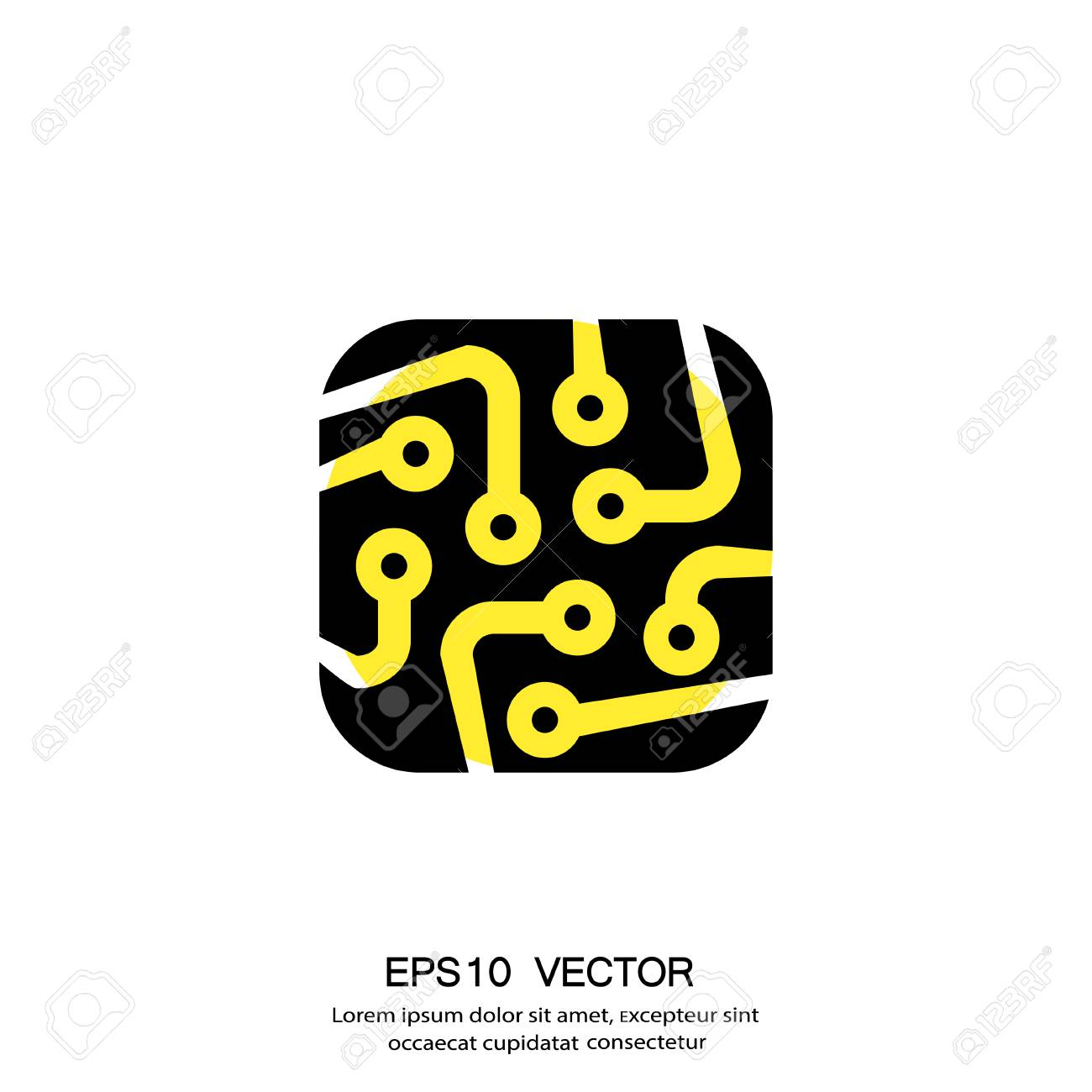 Pictograph De Carte De Circuit Imprimé. Vector Illustration ...
