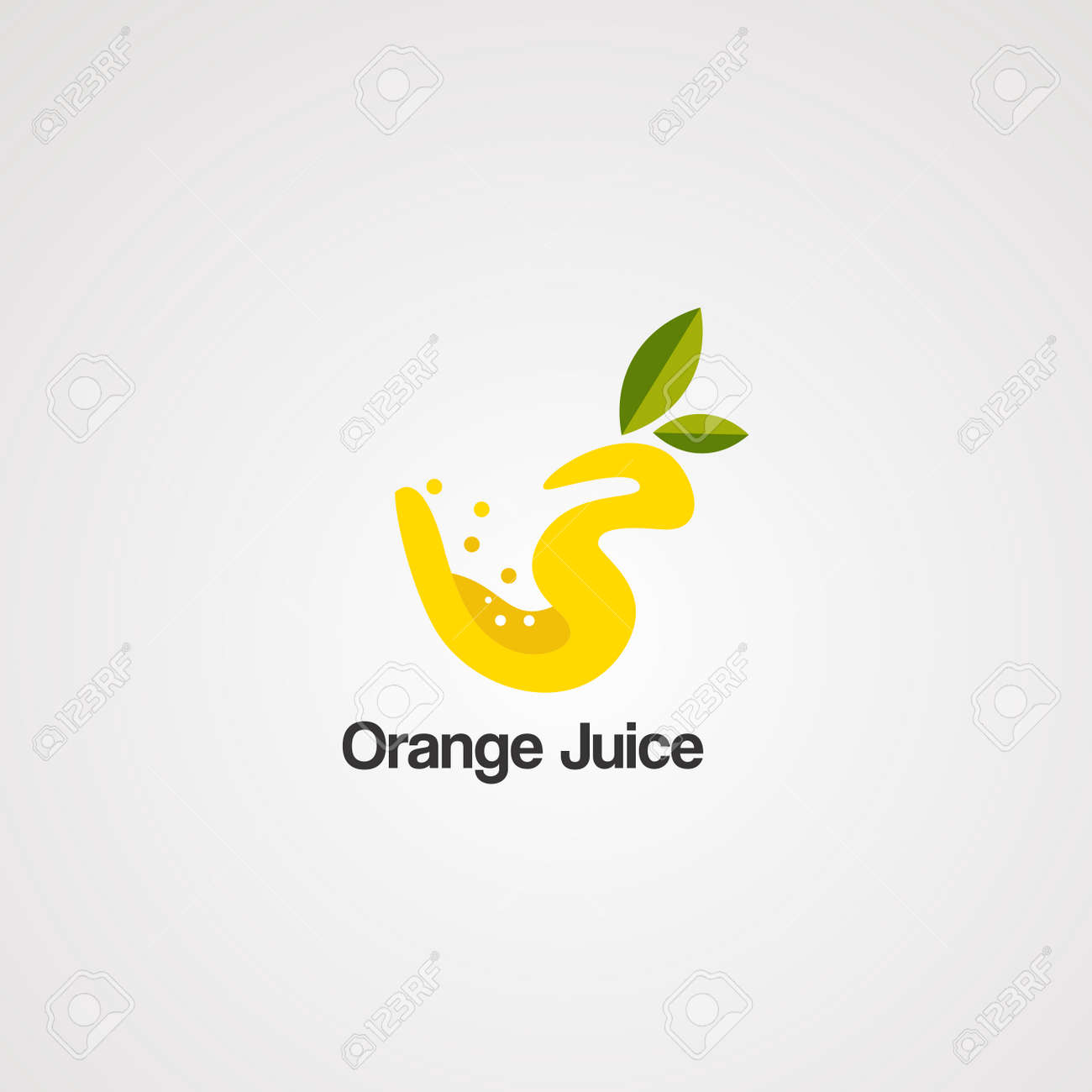 orange juice logo vector, icon, element, and template for company