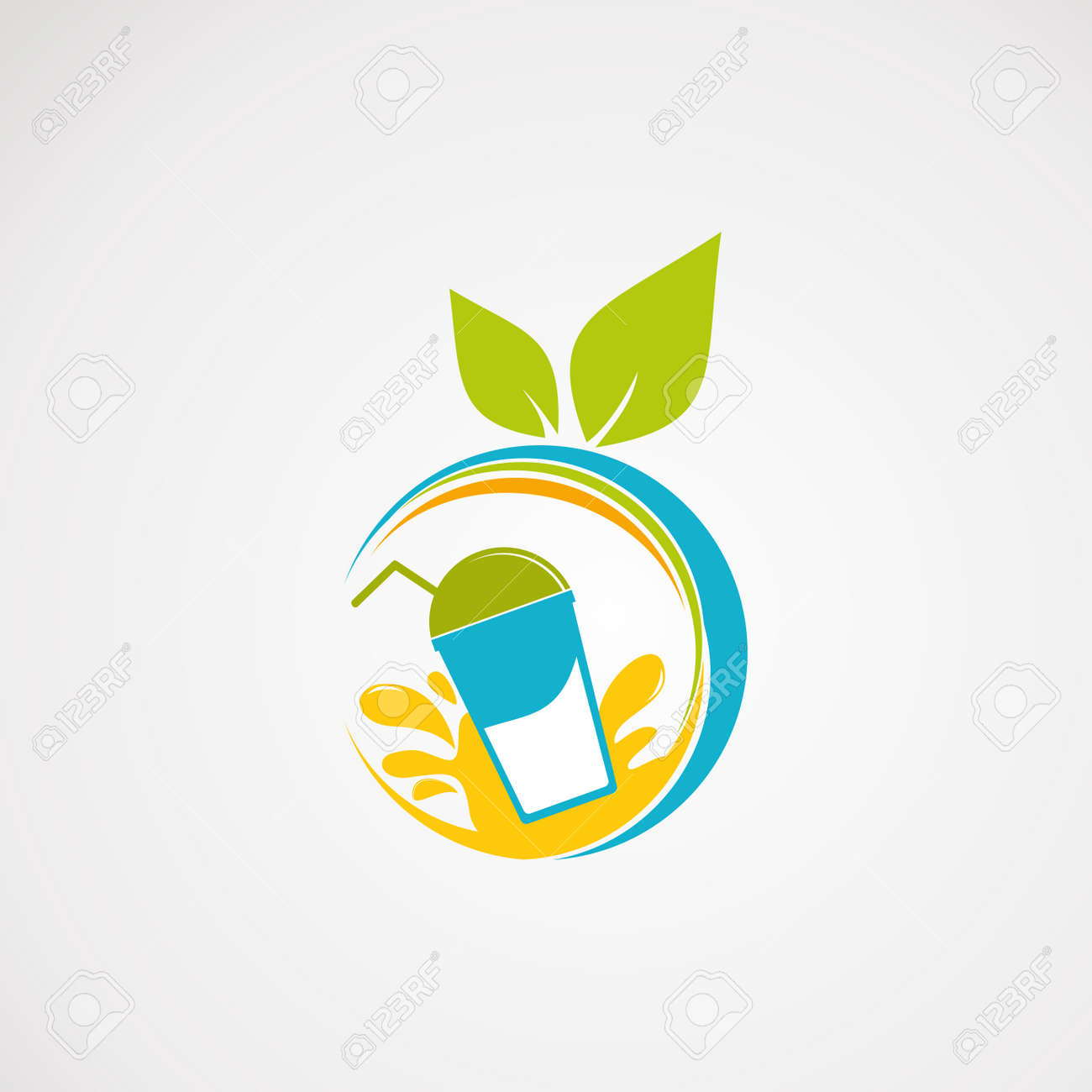 fresh juice logo vector, icon, element, and template - 120256329
