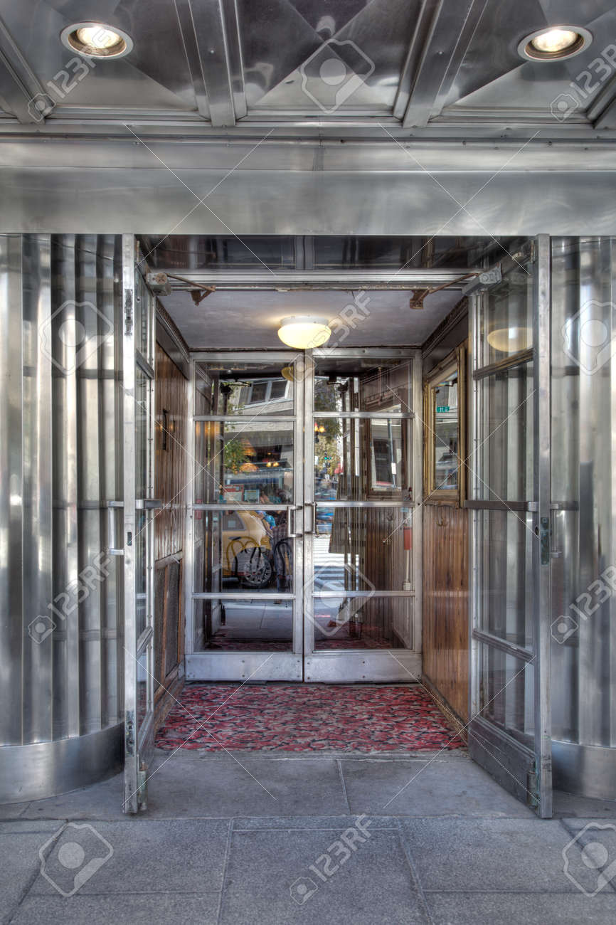 View of a retro restaurant entrance in HDR photography - 24947044