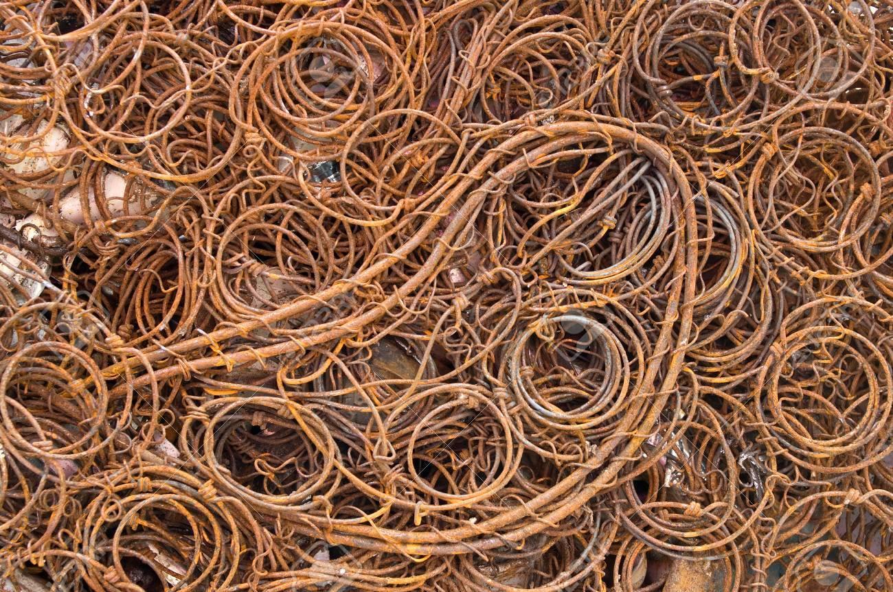 Ferrous recycling scrap metal - 24960483