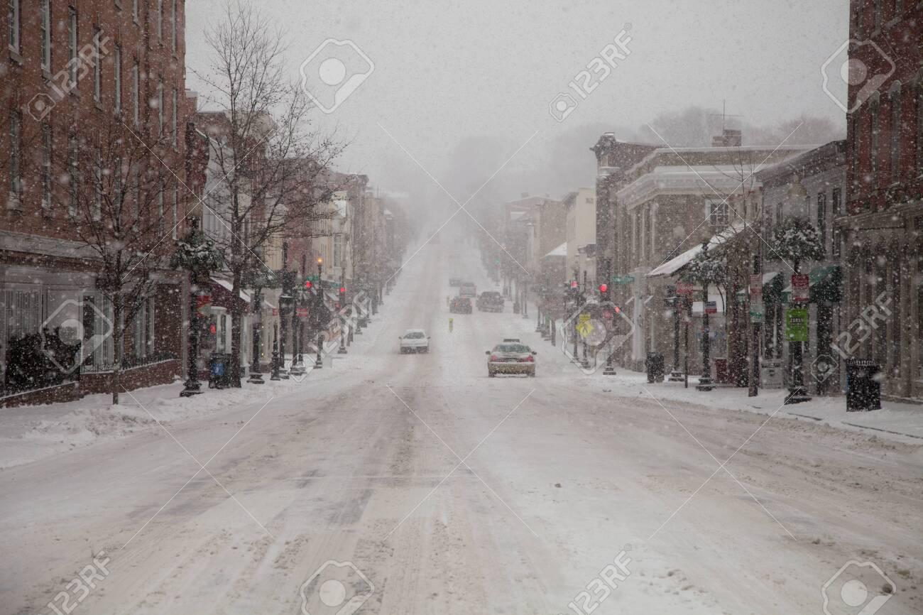 Mid Atlantic Winter storm on February 3, 2014 in Washington, DC - 26761175