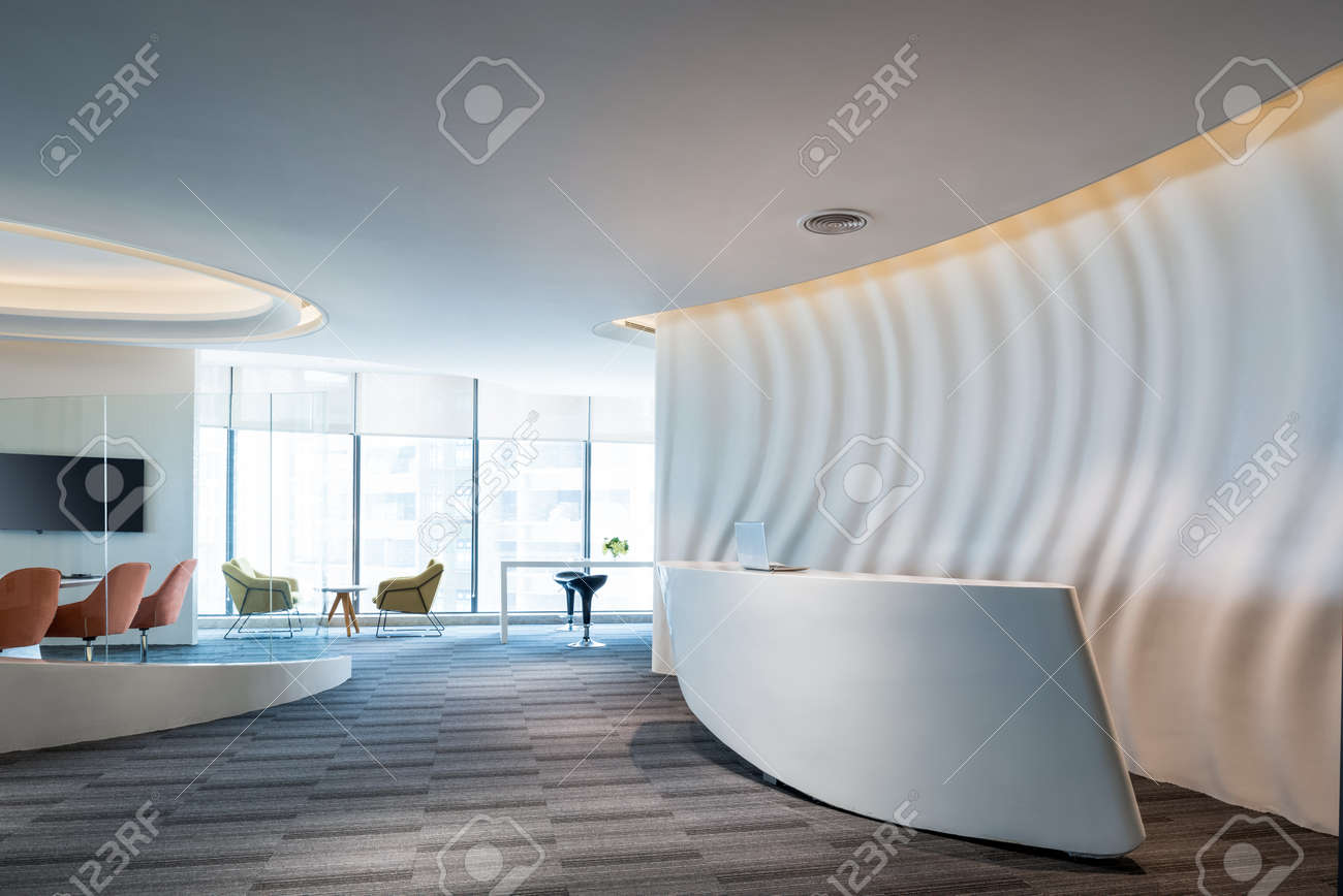 Fashion And Modern Office Interiors, Modern Open Space Office Stock Photo    91849867