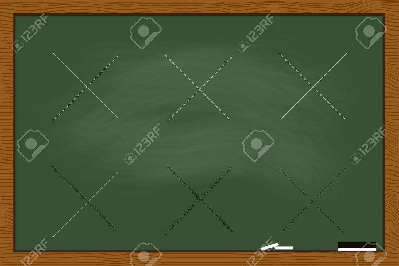 Green Chalkboard In Wood Frame Texture Royalty Free Cliparts