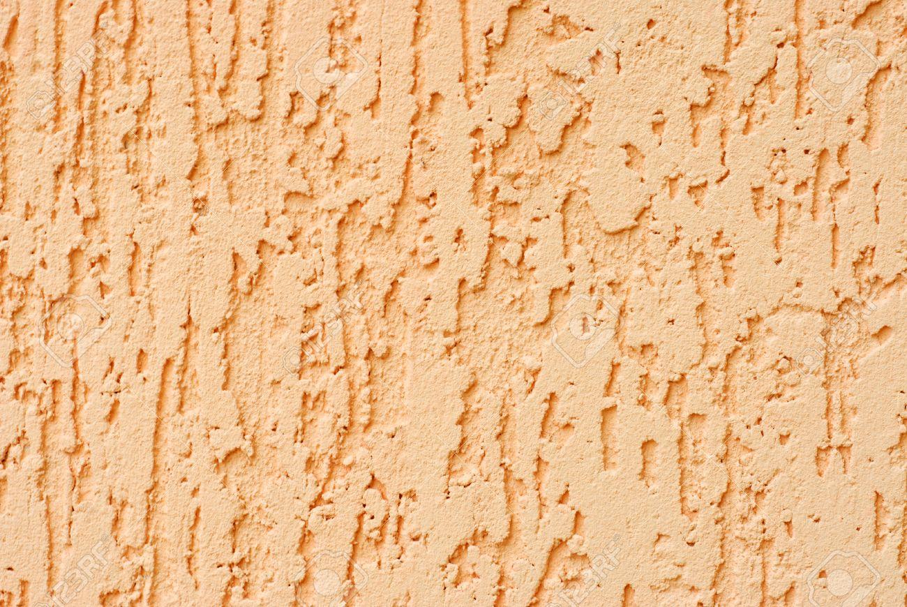 Plaster Dark Peach Colour Wall Background.. Decorative Render ...