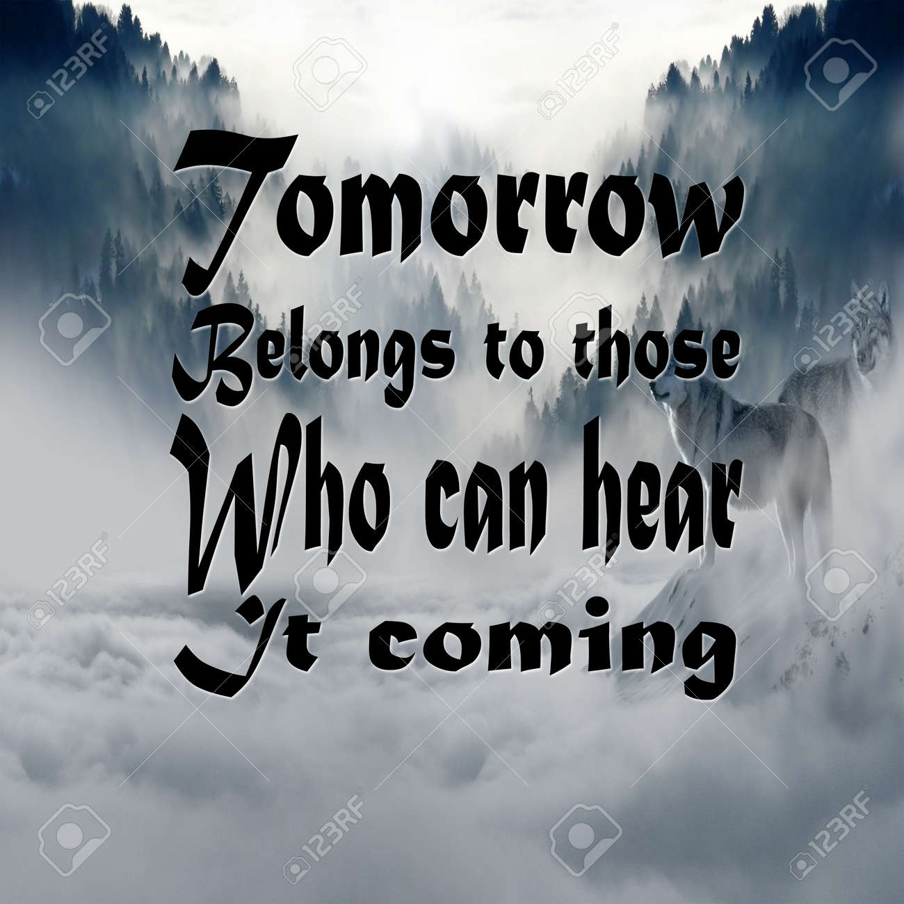 Inspirational Quotes Tomorrow Belongs To Those Who Can Hear It