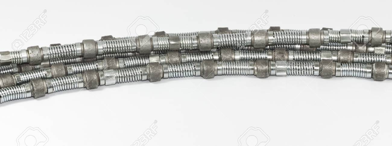 Diamond Wire Saw For Marble Quarrying Stock Photo, Picture And ...