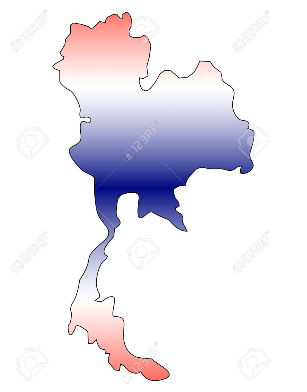 Thailand Outline Map Royalty Free Cliparts Vectors And Stock - Thailand blank map
