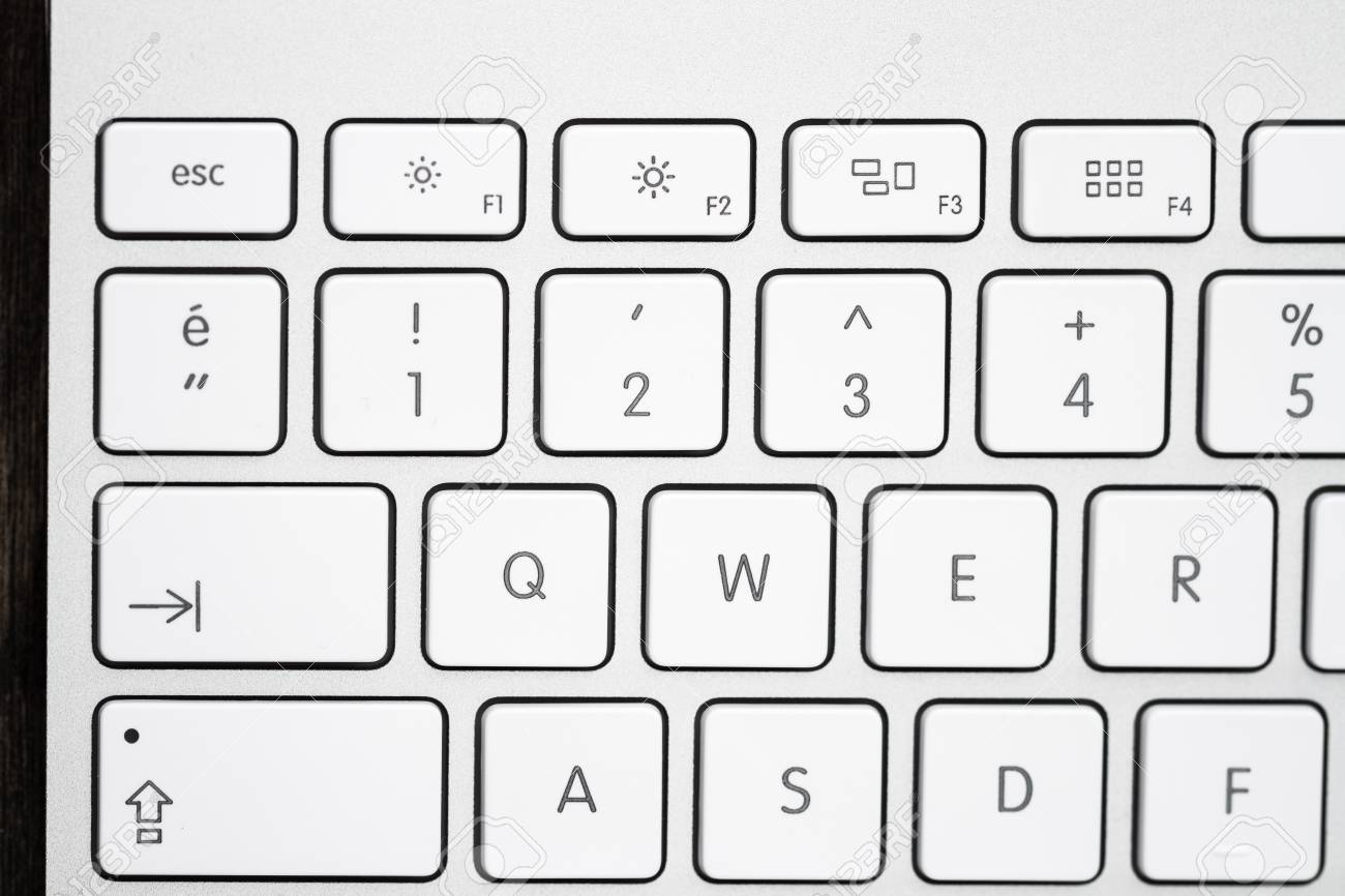 Close Up Of A Modern White Gray Computer Keyboard With Turkish Stock Photo Picture And Royalty Free Image Image 47198586