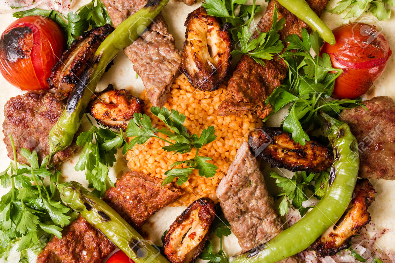 Turkish Traditional Mixed Kebab Plate With Adana And Chicken Stock Photo Picture And Royalty Free Image Image 108412527