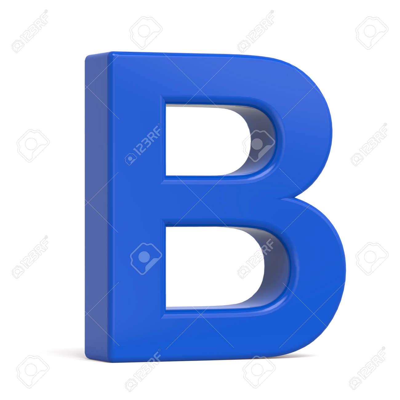 Plastique 3d Bleu Lettre B Isolé Sur Fond Blanc Banque D'Images Et ...