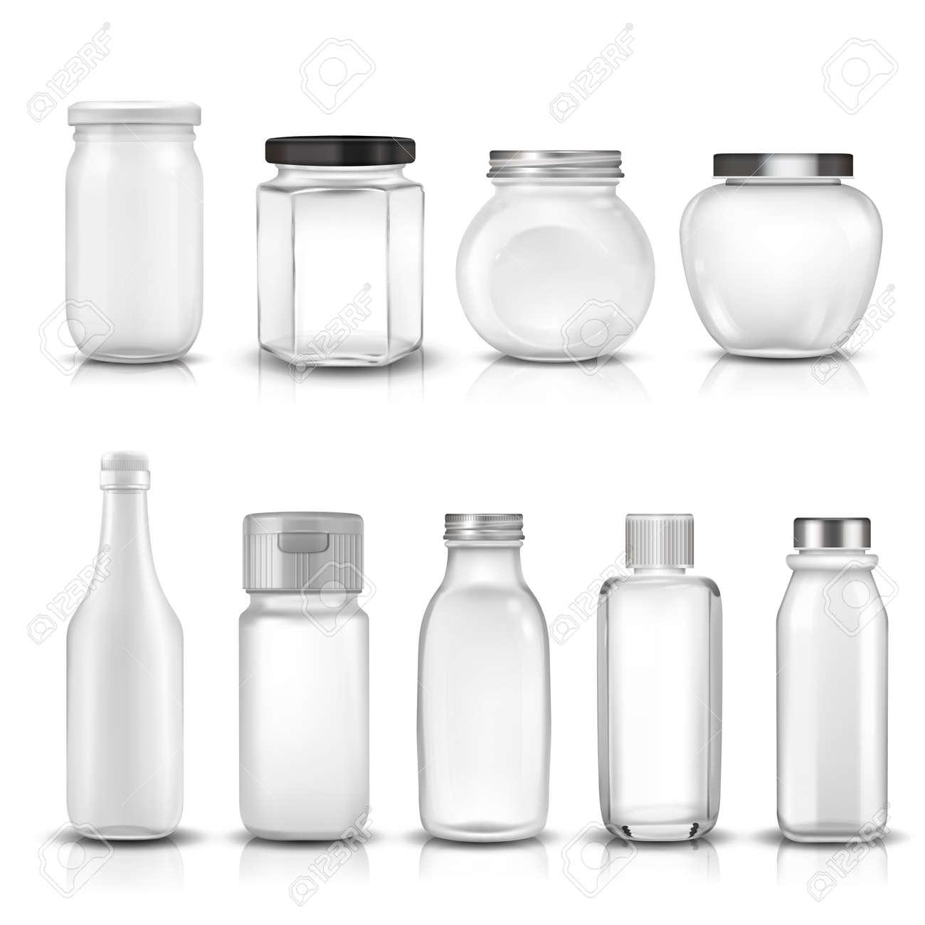 9 ガラス瓶コレクション セット3 D イラストのイラスト素材ベクタ