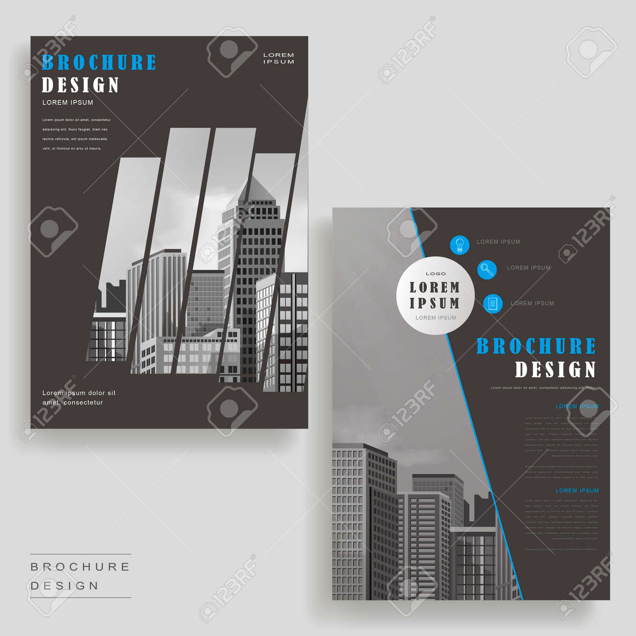 modern brochure template design with urban landscape stock vector 61096495