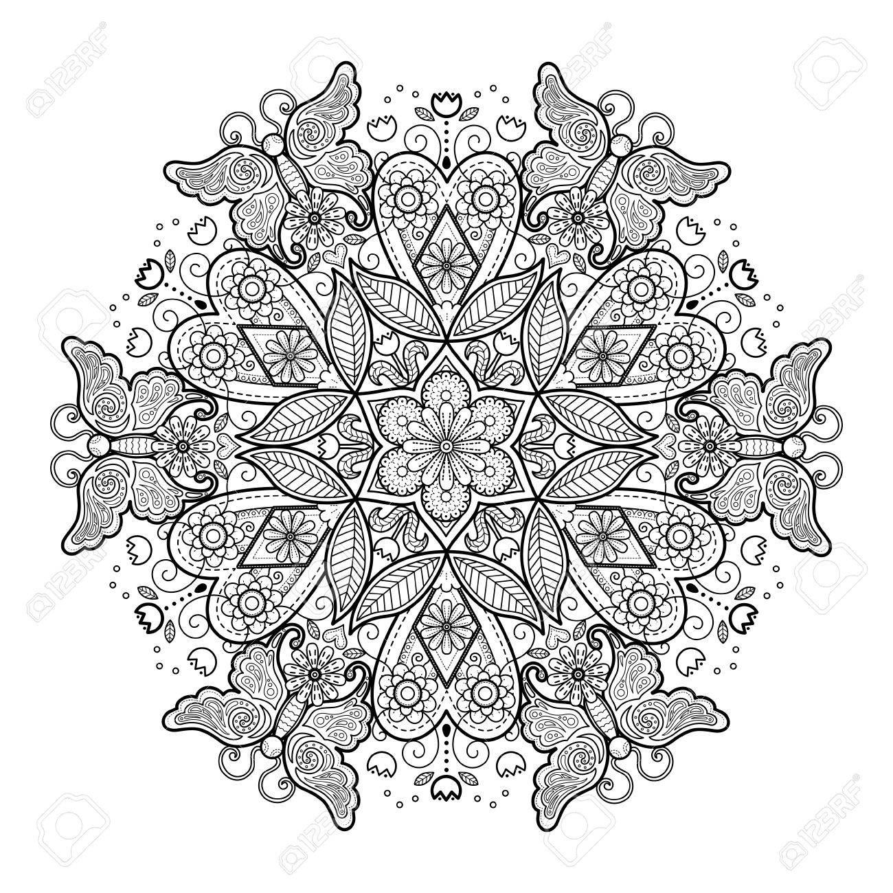 Hermosa Hermoso Diseño Para Colorear Viñeta - Ideas Para Colorear ...