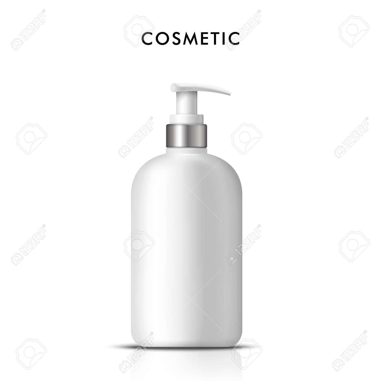 Cosmetic liquid soap bottle,3D illustration realistic plastic