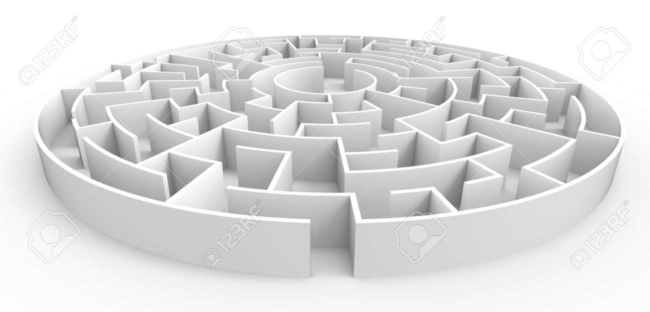 Great Labyrinth Template Pictures >> 3d Rendering Maze Top View Of ...