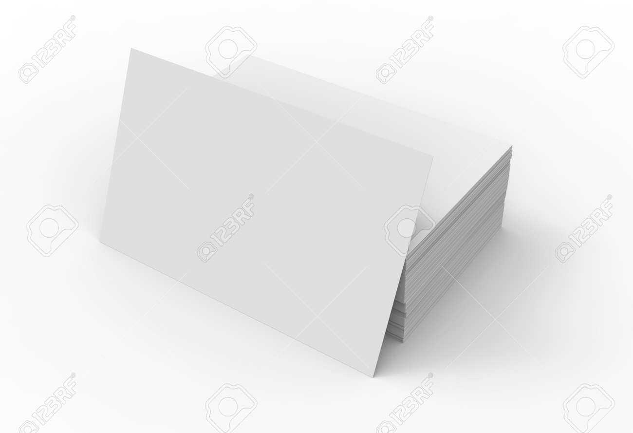 Stack of business card template blank unfilled card for edited stack of business card template blank unfilled card for edited isolated on white background stock cheaphphosting Images