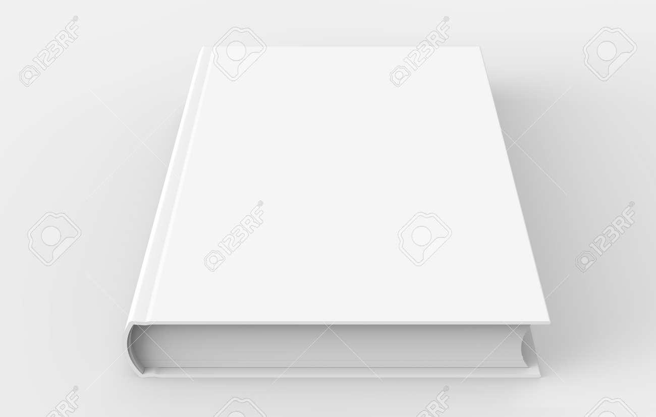 Modele De Livre A Couverture Rigide Blanc Couverture De Livre Blanc Pour La Conception Isole Sur Fond Blanc Le Rendu 3d