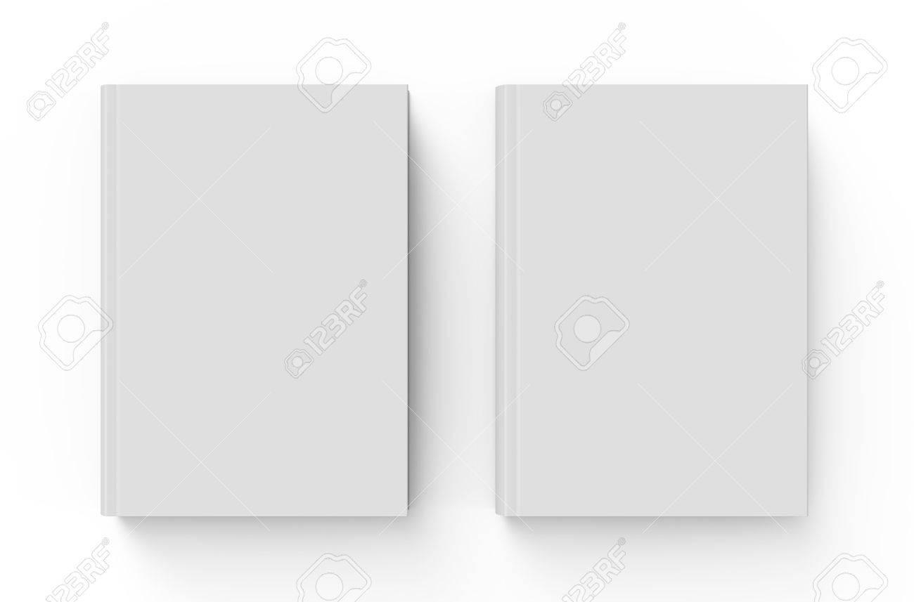 Blank Hard Cover Buch-Vorlage, Zwei Leere Bücher Für Design Auf ...