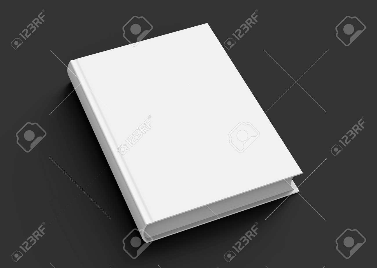 Modele De Livre A Couverture Rigide Blanc Couverture De Livre Blanc Pour Design Isole Sur Fond Noir Rendu 3d