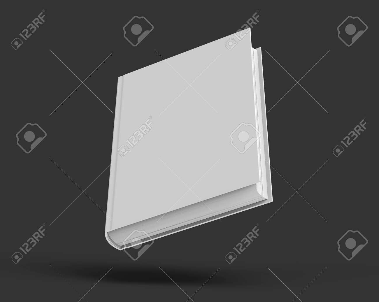 Modele De Livre En Couverture Rigide Couverture De Livre Vierge Flottant Dans L Air Pour La Conception Isolee Sur Fond Noir Rendu 3d