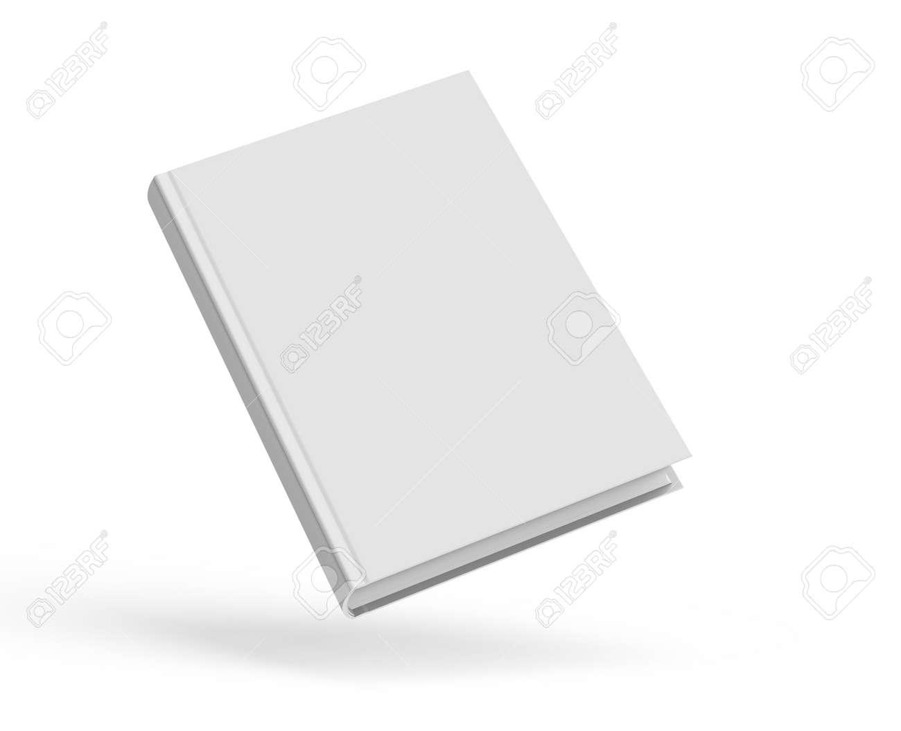 Modele De Livre A Couverture Rigide Blanc Couverture De Livre Blanc Flottant Dans L Air Pour La Conception Isole Sur Fond Blanc Le Rendu 3d