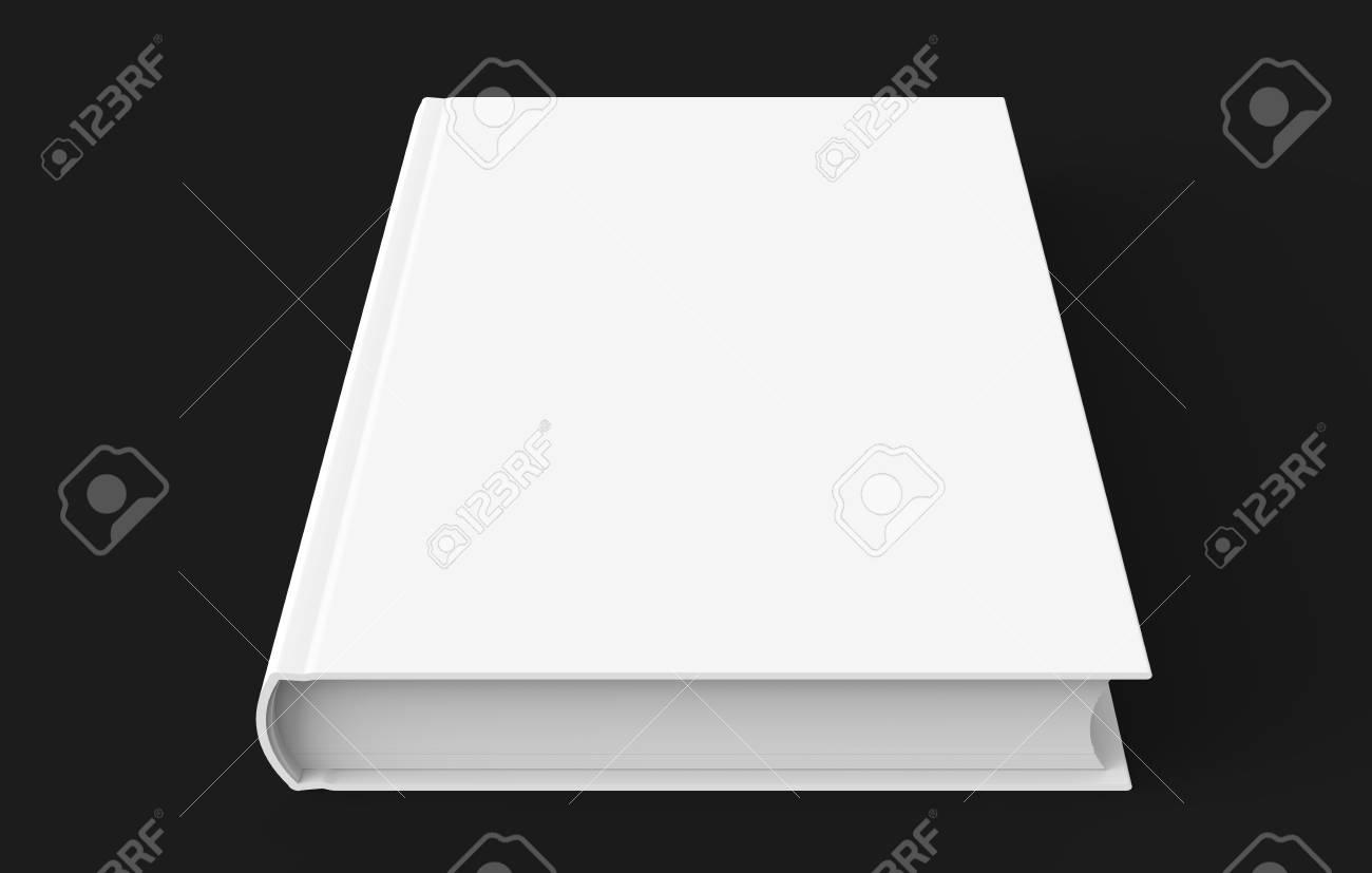 Modele De Livre A Couverture Rigide Blanc Couverture De Livre Blanc Pour La Conception Isole Sur Fond Noir Rendu 3d