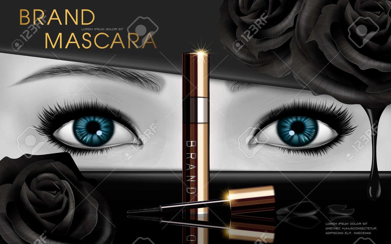 Imagens De Desenho De Rimel Com Olhos Azuis E Elementos De Flor