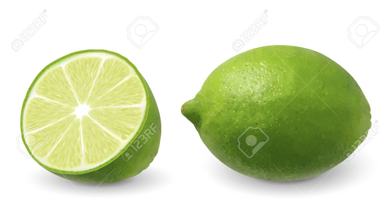 Lemon with its section in 3d illustration on white background - 103662430