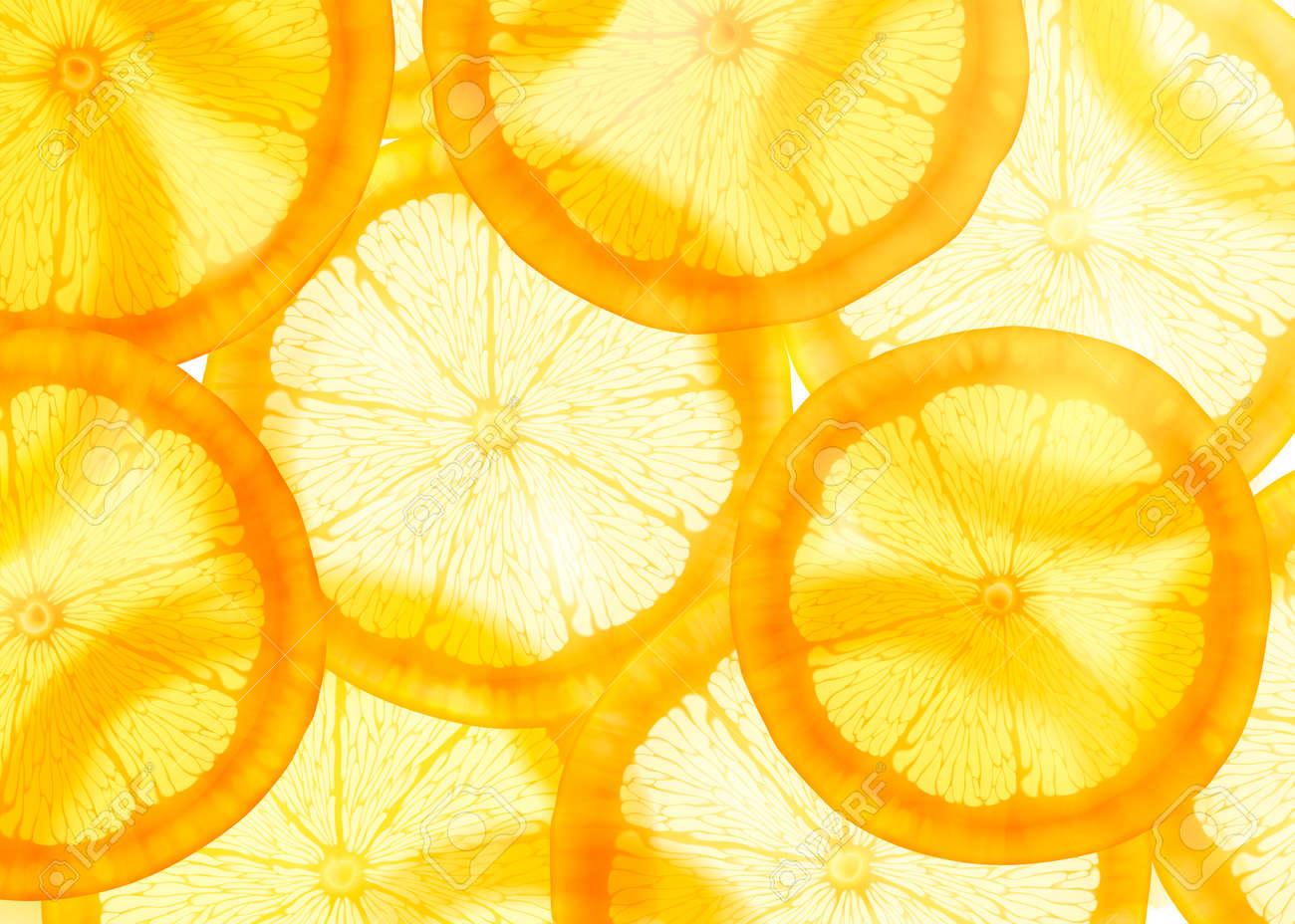 Translucent sliced orange background for design uses - 109897966