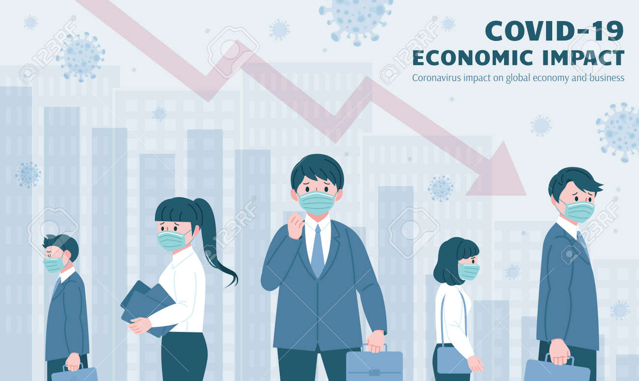 People feeling worried for the rising unemployment rate and evolving economic depression caused by COVID-19 pandemic - 146424502
