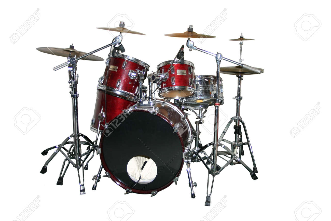An isolated drum set Stock Photo - 267907