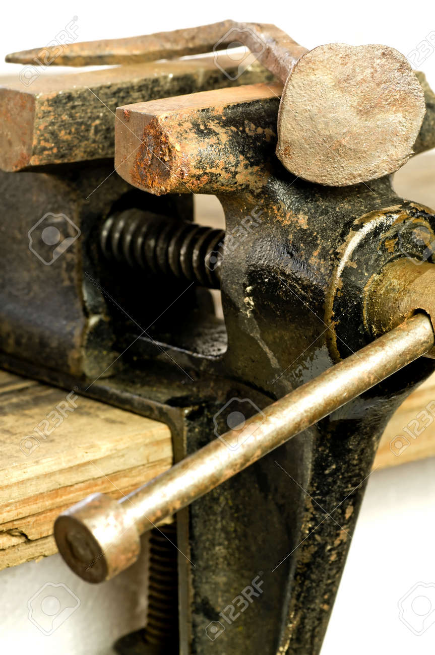 Bench vise with twisted nail Stock Photo - 18933931